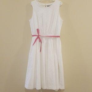 💕Lands End girls white flower dress